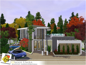 Sims 3 — Owah Umba by Onyxium — On the first floor: Living Room | Dining Room | Kitchen | Bathroom | Park Space On the