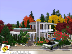 Sims 3 — Vivian Spinel by Onyxium — On the first floor: Living Room | Dining Room | Kitchen | Bathroom | Park Space On
