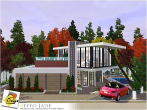 Sims 3 — Zeffo Jade by Onyxium — On the first floor: Living Room | Dining Room | Kitchen | Bathroom | Park Space On the