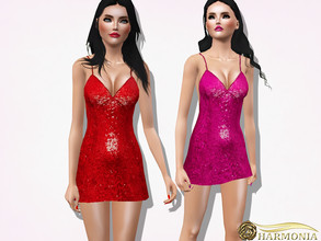 Sims 3 — Sequin Strappy Bodycon Dress by Harmonia — 3 variations not-Recolorable Please do not use my textures. Please do