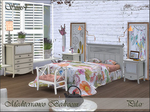 Sims 4 — Mediterraneo Bedroom by Pilar — The light of the Mediterranean