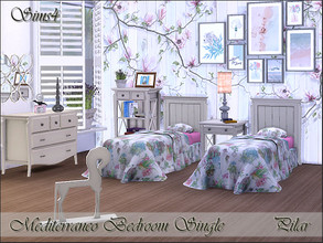 Sims 4 — Mediterraneo Bedroom Single by Pilar — The light of the Mediterranean