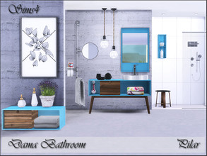 Sims 4 — Dama Bathroom by Pilar — The glass as a fundamental part of the bathroom