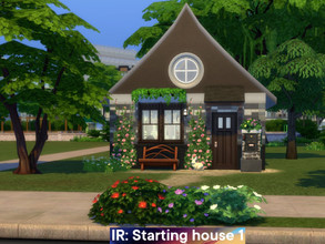 Sims 4 — Starting house 1 by Iara_Ruta — A small, cozy and very inexpensive house for one sim or a couple. Price without