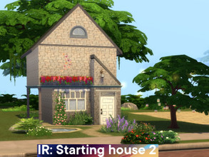 Sims 4 — Starting house 2 by Iara_Ruta — This house is very deceiving: it looks like a rural house for grandmother, but