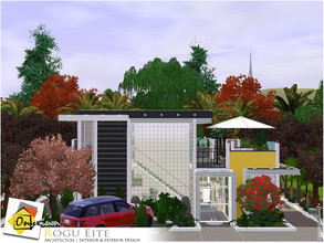 Sims 3 — Rogu Eite by Onyxium — On the first floor: Living Room | Dining Room | Kitchen | Adult Bedroom | Bathroom | Park