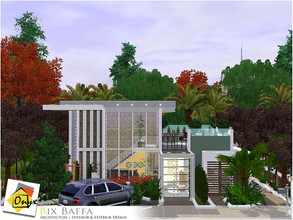 Sims 3 — Bix Baffa by Onyxium — On the first floor: Living Room | Dining Room | Kitchen | Adult Bedroom | Bathroom | Park