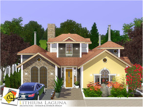 Sims 3 — Lithium Laguna by Onyxium — On the first floor: Living Room | Dining Room | Kitchen | Bathroom | Adult Bedroom |
