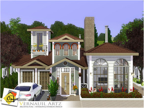 Sims 3 — Vernauil Artz by Onyxium — On the first floor: Living Room | Dining Room | Kitchen | Bathroom | Adult Bedroom |