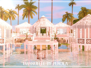Sims 3 — Emanuelle by perolasims — Beautiful submerged house with: - a bedroom; - a bathroom; - a kitchen; - a living