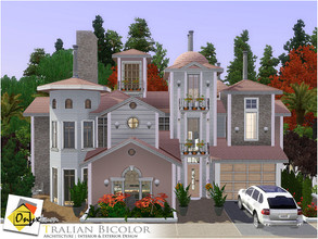 Sims 3 — Tralian Bicolor by Onyxium — On the first floor: Living Room | Dining Room | Kitchen | Bathroom | Garage On the