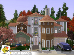 Sims 3 — Hyalite Iodor by Onyxium — On the first floor: Living Room | Dining Room | Kitchen | Bathroom | Study Room |