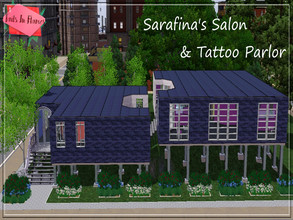 Sims 3 — Sarafina's Salon & Tattoo Parlor  by Tails_in_Flames — Contemporary and Bold Styled Salon for your sims to