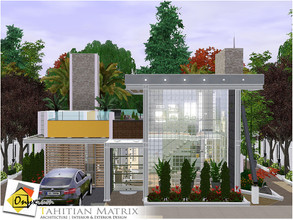 Sims 3 — Tahitian Matrix by Onyxium — On the first floor: Living Room | Dining Room | Kitchen | Adult Bedroom | Bathroom