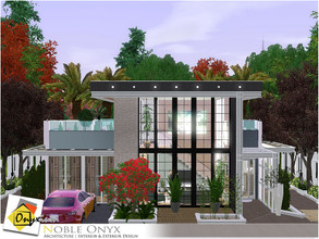 Sims 3 — Noble Onyx by Onyxium — On the first floor: Living Room | Dining Room | Kitchen | Adult Bedroom | Bathroom |