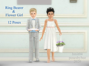 Sims 3 — Ring Bearer and Flower Girl by jessesue2 — Poses for ring bearers and flower girls. 12 poses in total for