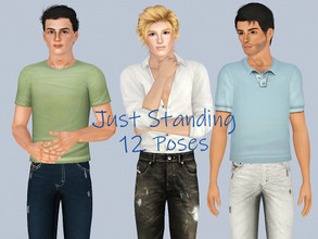 Sims 3 — Just Standing - Males by jessesue2 — *12 poses *pose list compatible Stories always need standing poses, some