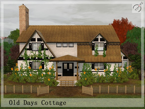 Sims 3 — Old Days Cottage by timi722 — Old style home for a medium family. Living room with fireplace is the perfect spot