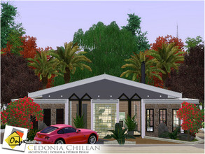 Sims 3 — Cedonia Chilean by Onyxium — On the first floor: Living Room | Study Room | Dining Room | Kitchen | Bathroom |