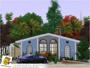 Sims 3 — Howjevite Asper by Onyxium — On the first floor: Living Room | Dining Room | Kitchen | Bathroom | Adult Bedroom