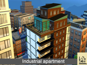 Sims 4 — Industrial apartment  by GenkaiHaretsu — Hello, I present to you today an urban apartment in an industrial