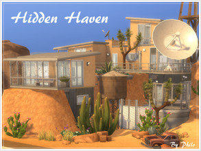 Sims 4 — Hidden Haven (No CC) by philo — While most humans are scarcely surviving, some luckier scientists took refuge in