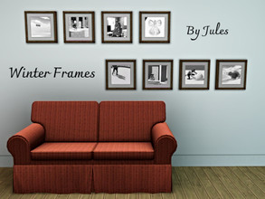 Sims 3 — New Frames V1 by JulieK1 — France and Winter pictures.