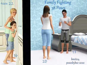 Sims 3 — Family Fighting Pose Set by jessesue2 — The set was created with poses to be interchangeable to suit. *fighting