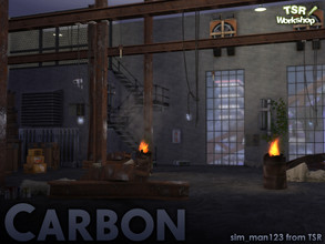 Sims 4 — Carbon Industrial by sim_man123 — A set of various industrial construction and electrical elements for