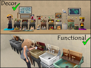 Sims 4 — LAUNDRY DAY - DECOR & FUNCTIONAL SINK SET by Ghiuri — *ONLY for Laundry Day Stuff Pack* The sink comes in