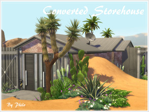Sims 4 — Converted Storehouse (No CC) by philo — Just a few months ago, this lot was still a small storehouse, now it's