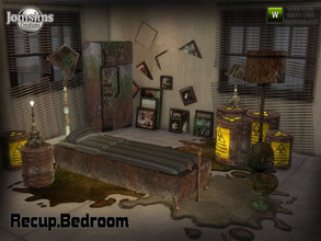 Sims 4 — Recup bedroom by jomsims — post-apocalypse. Recup bedroom. For our May theme. I have prepared a bedroom for your