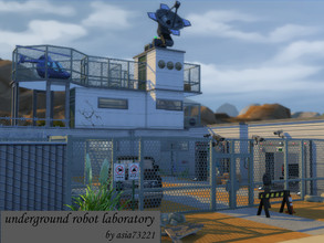 Sims 4 — Underground Robot Laboratory  by asia73221 — Underground Robot Laboratory Scientists created robots there, but