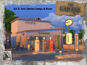 Sims 4 — The Garage - Set 2: Filling Station Lamps and Decor by Cyclonesue — Lights and decorative props with which you