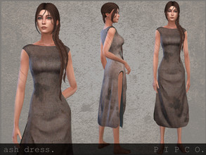 Sims 4 — pipco - ash dress. by Pipco — a simple, dirty dress. 2 swatches base game compatible new mesh all lods custom