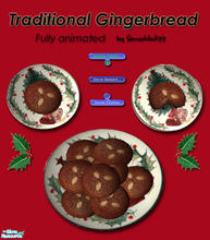 Sims 2 — Christmas Cookies - Gingerbread by Simaddict99 — Delicious, traditional gingerbread your Sims can prepare and