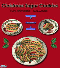 Sims 2 — Christmas Cookies - Sugar Cookies by Simaddict99 — Delicious sugar cookies your Sims can prepare and eat.