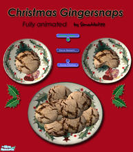 Sims 2 — Christmas Cookies - Gingersnaps by Simaddict99 — Delicious gingersnaps your Sims can prepare and eat. Requires 1