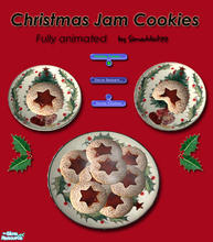 Sims 2 — Christmas Cookies - Jam Filled by Simaddict99 — Delicious jam filled cookies your Sims can prepare and eat.