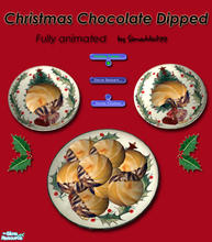 Sims 2 — Christmas Cookies - Chocolate Dipped by Simaddict99 — Delicious chocolate dipped cookies your Sims can prepare