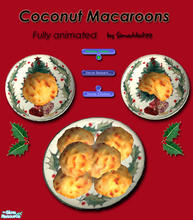 Sims 2 — Christmas Cookies - Macaroons by Simaddict99 — Delicious macaroons your Sims can prepare and eat. Requires 1