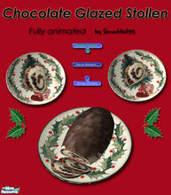 Sims 2 — Christmas Stollen - Chocolate Glazed by Simaddict99 — Delicious Chocolate Glazed Christmas Stollen for your sims