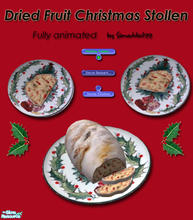 Sims 2 — Christmas Stollen - Dried Fruit by Simaddict99 — Delicious Dried & Candied Fruit Christmas Stollen for your