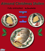 Sims 2 — Christmas Stollen - Almond Stollen by Simaddict99 — Delicious Almond Christmas Stollen for your sims to prepare