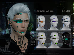 Sims 4 — DSF GLASSES ARAC HIDRA by DanSimsFantasy — Futuristic accessory, this multifunctional computer with holographic
