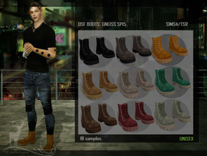 Sims 4 — DSF BOOTS  GNEISS SP15 by DanSimsFantasy — Ideal boots for extreme activities and of exploration. Available for