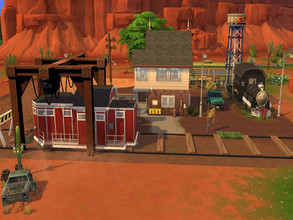 Sims 4 — Endstation by Nevaraniel — A House for Simmers who love the Apocalypse or something like that It has 2 Bedroom