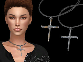 Sims 4 — NataliS_Nail cross pendant by Natalis — NataliS_Nail cross pendant. FT-FA-FE 3 colors.