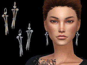 Sims 4 — NataliS_Three nails earrings by Natalis — Three nails earrings. FT-FA-FE 3 colors.