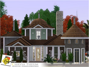 Sims 3 — Chrysa Theum by Onyxium — On the first floor: Living Room | Dining Room | Kitchen | Bathroom | Adult Bedroom On